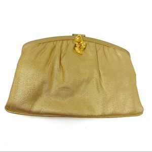 Vintage Magid gold evening bag clutch